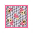 Gavroche en soie Roi de cœur 65 x 65 roulotté main