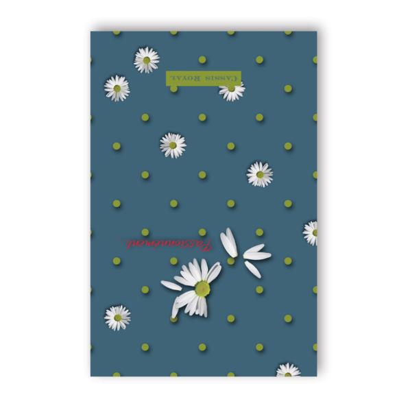 cassis-royal-carnet-passionnement-un-peu-beaucoup-marguerite-notebook-boutique-laguiole-pois-vert-paquerette
