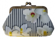 porte-monnaie en satin N°2 magnolia