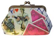 porte-monnaie en satin N°2 roi de coeur