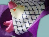 Carré de soie Roi de cœur 90 x 90 roulotte main