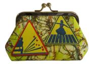 porte-monnaie-N°2-cassis-royal-nationale-7-carte-routiere-panneaux-routiers-attention-ecole-teckel-train-attention-gravillon-pieton