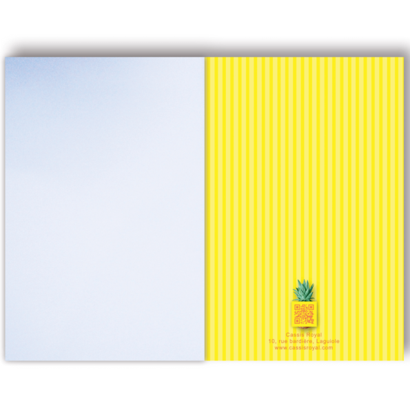 Cassis royal carnet note book Ananas - cassisroyal.com
