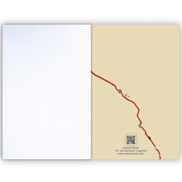Cassis royal carnet note book Nationale 7 - cassisroyal.com