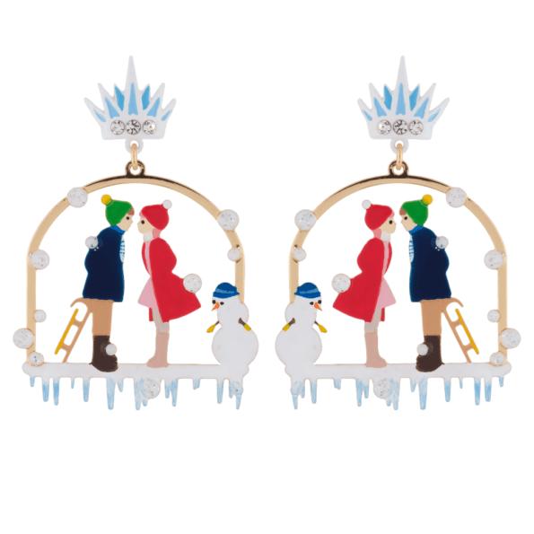Bijoux N2, Le royaume enneigé boucles d'oreilles «rencontre» - cassisroyal.com
