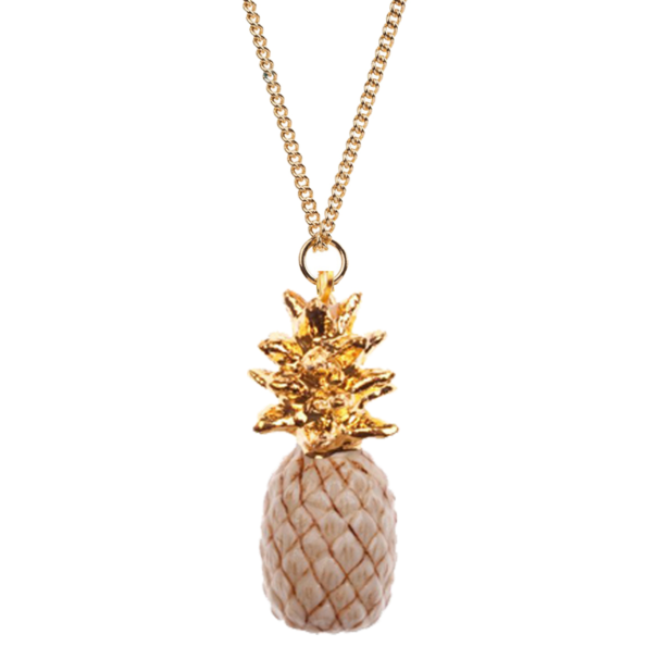collier porcelaine and mary necklace ananas pineapple beige - cassisroyal.com