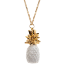 collier porcelaine and mary necklace ananas pineapple blanc - cassisroyal.com