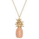 collier porcelaine and mary necklace ananas pineapple peche - cassisroyal.com