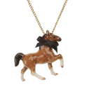 collier porcelaine and mary necklace cheval brun - cassisroyal.com