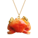 collier porcelaine and mary necklace crabe - cassisroyal.com