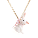 collier porcelaine and mary necklace petit lapin blanc - cassisroyal.com