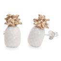 boucles d'oreilles porcelaine and mary ananas blanc earrings orecchini pendientes ohrringe - cassisroyal.com