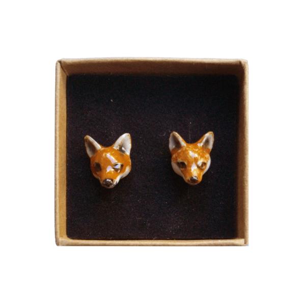 boucles d'oreilles porcelaine and mary renard earrings orecchini pendientes ohrringe - cassisroyal.com