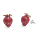 boucles d'oreilles porcelaine and mary fraise earrings orecchini pendientes ohrringe - cassisroyal.com