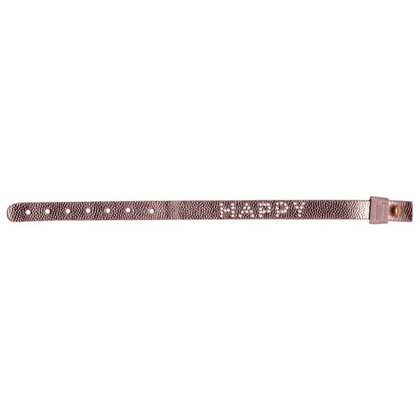 Sorbet bracelet happy bracelet cuir gold rosé leather - cassisroyal.com