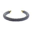 Mishky twist bracelet en perles gris et or - cassisroyal.com