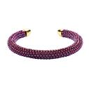 Mishky twist bracelet en perles bourgogne et or - cassisroyal.com