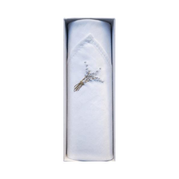 Mouchoir Tamielle lavande handkerchief - cassisroyal.com