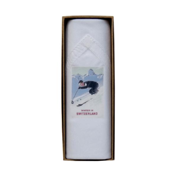 Mouchoir Tamielle homme winter in switzerland handkerchief - cassisroyal.com