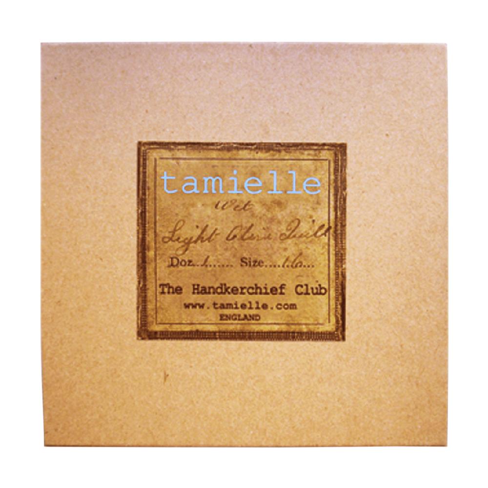 Coffret de 3 mouchoirs Tamielle homme mouchoirs Tamielle handkerchief - cassisroyal.com