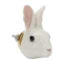 Poignée de placard en porcelaine and mary lapin blanc doorknob white rabbit - cassisroyal.com