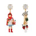 Bijoux N2 promenons nous boucles d'oreilles chaperon rouge - cassisroyal.com