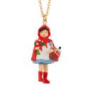 Bijoux N2 promenons nous collier chaperon rouge et son panier garni - cassisroyal.com
