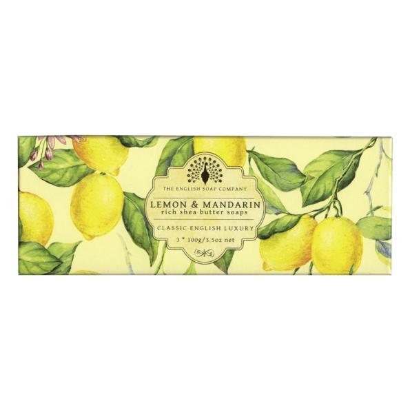 coffret de 3 savons Citron et Mandarine soap sapone jabón seife - cassisroyal.com