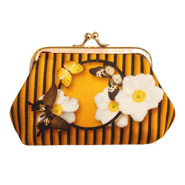 Cassis Royal Porte-monnaie N°2 en satin Butterfly - cassisroyal.com