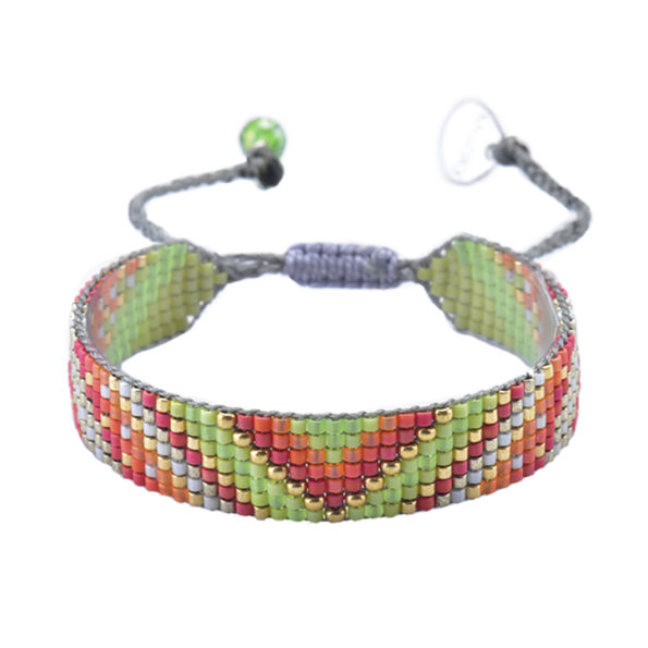 mishky bracelet perles multicolores track lime corail or - cassisroyal.com