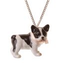 collier porcelaine and mary necklace chien bouledogue - cassisroyal.com