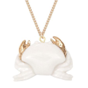 collier porcelaine and mary necklace crabe blanc et or - cassisroyal.com