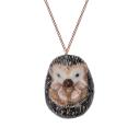 collier porcelaine and mary necklace hérisson - cassisroyal.com