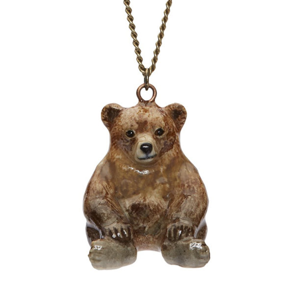 collier porcelaine and mary necklace petit ours - cassisroyal.com
