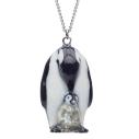 collier porcelaine and mary necklace pingouin et son bébé - cassisroyal.com