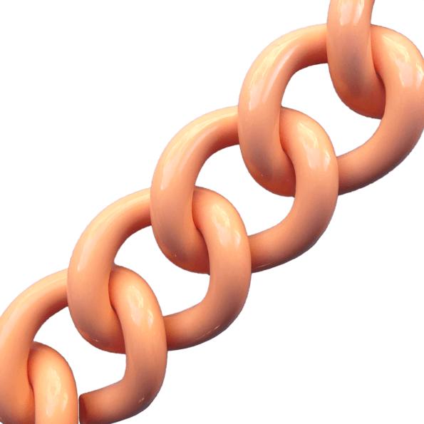 kalaika chunky chaîne bracelet maille acrylique pêche - cassisroyal.com