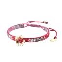 mishky bracelet fleur perles multicolores track flower rouge bronze or - cassisroyal.com
