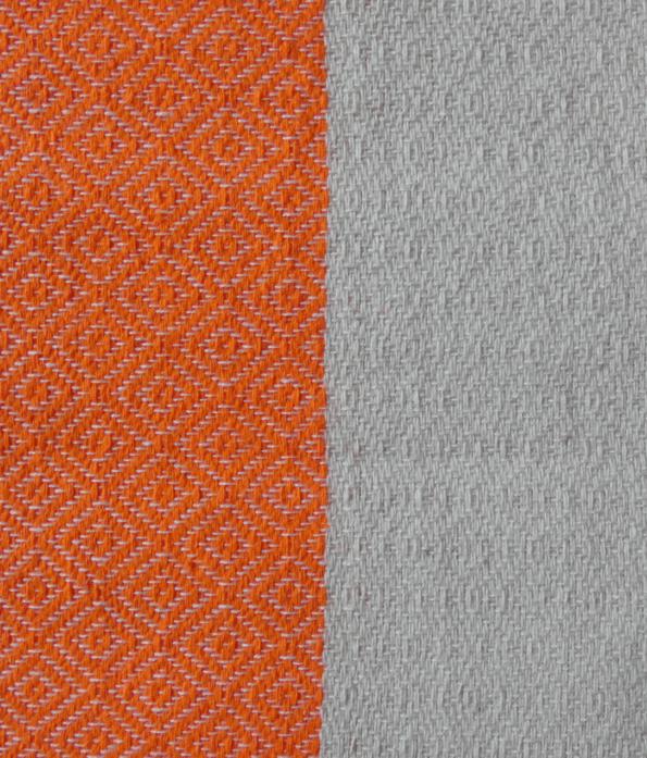Fouta tissage Jacquard Vérone 100/200 cm, Mandarine