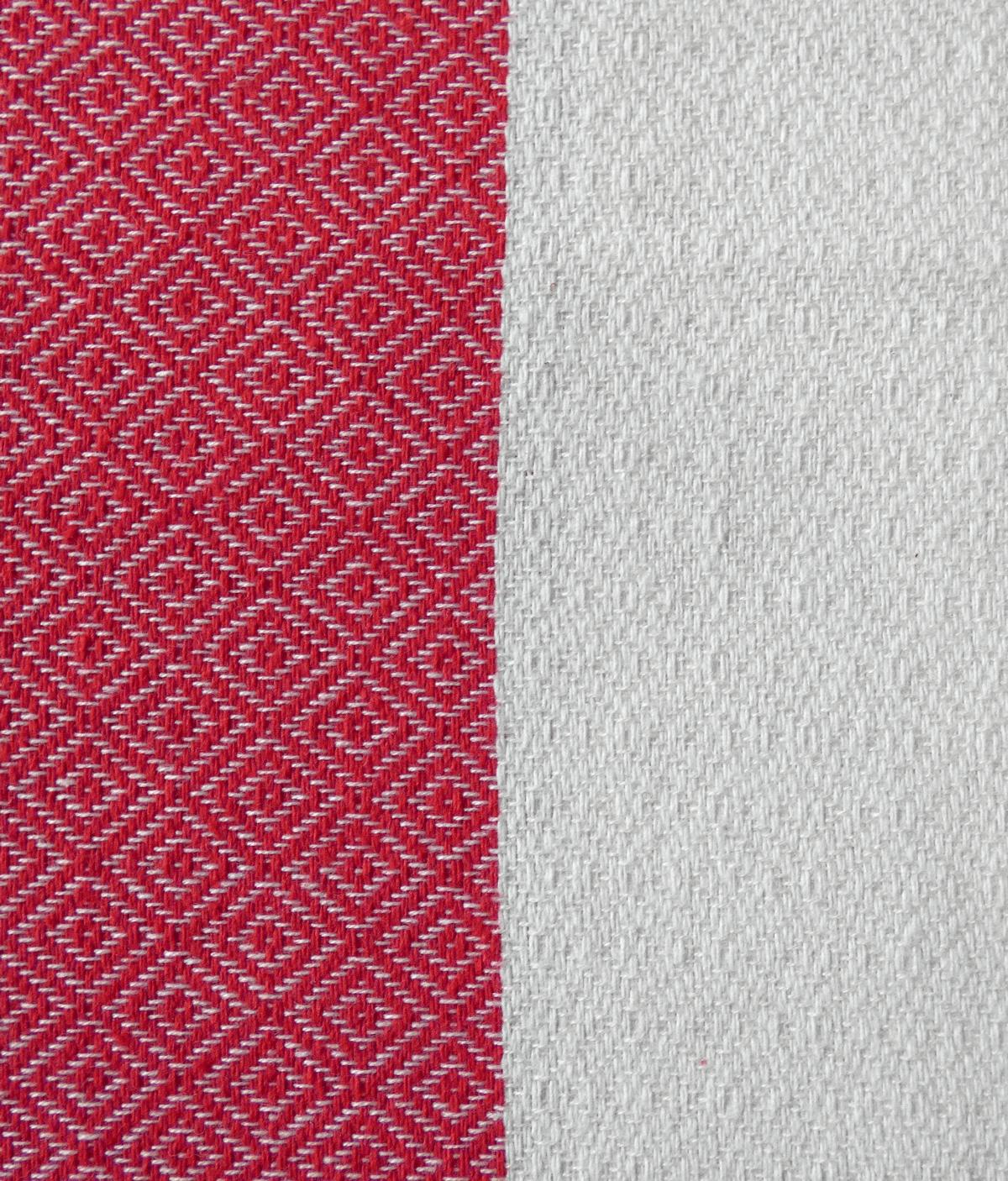 Fouta tissage Jacquard Vérone 100/200 cm, Rouge