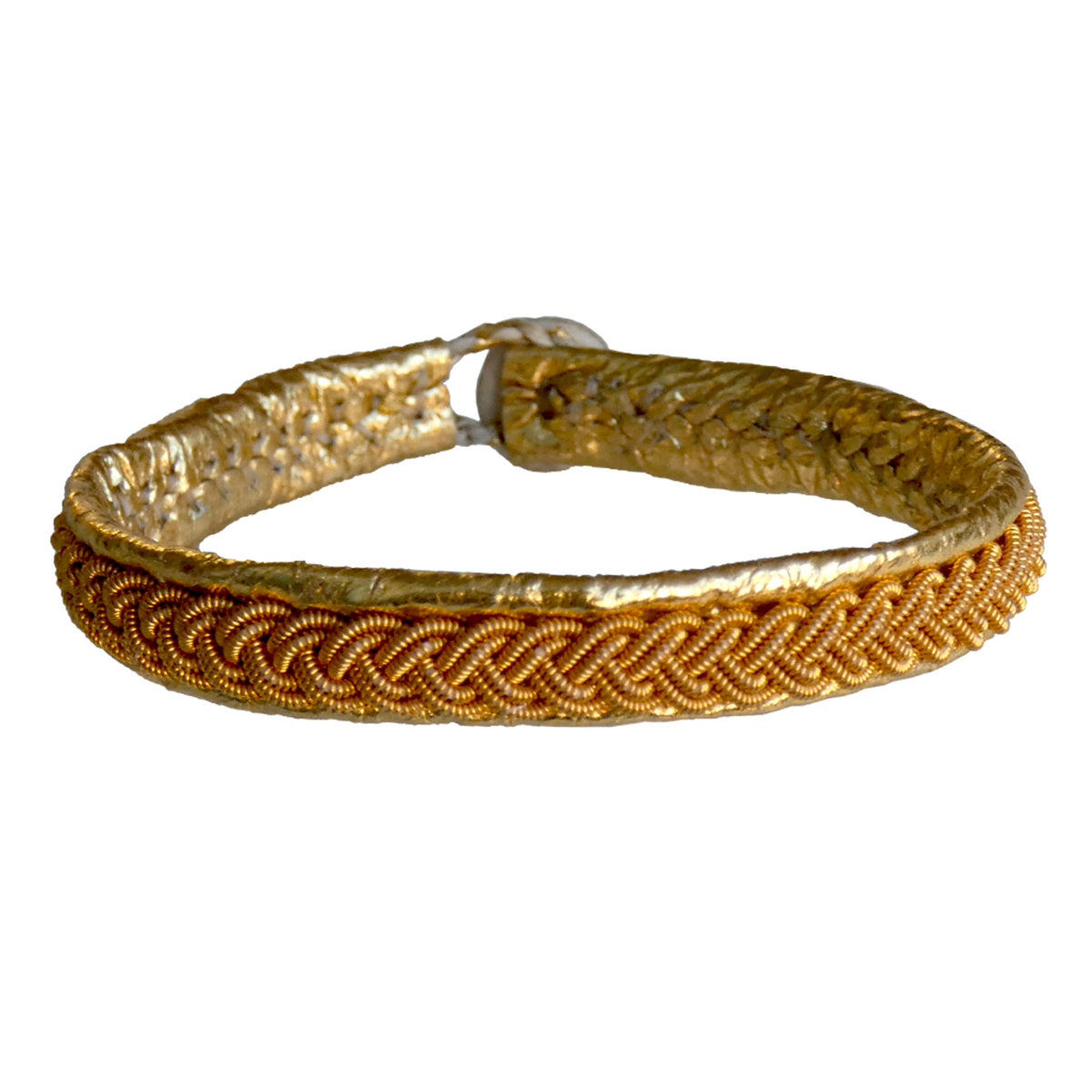 Empreinte Nomade, bracelet Lapon Anja Coloris Or tresse Or - cassisroyal.com