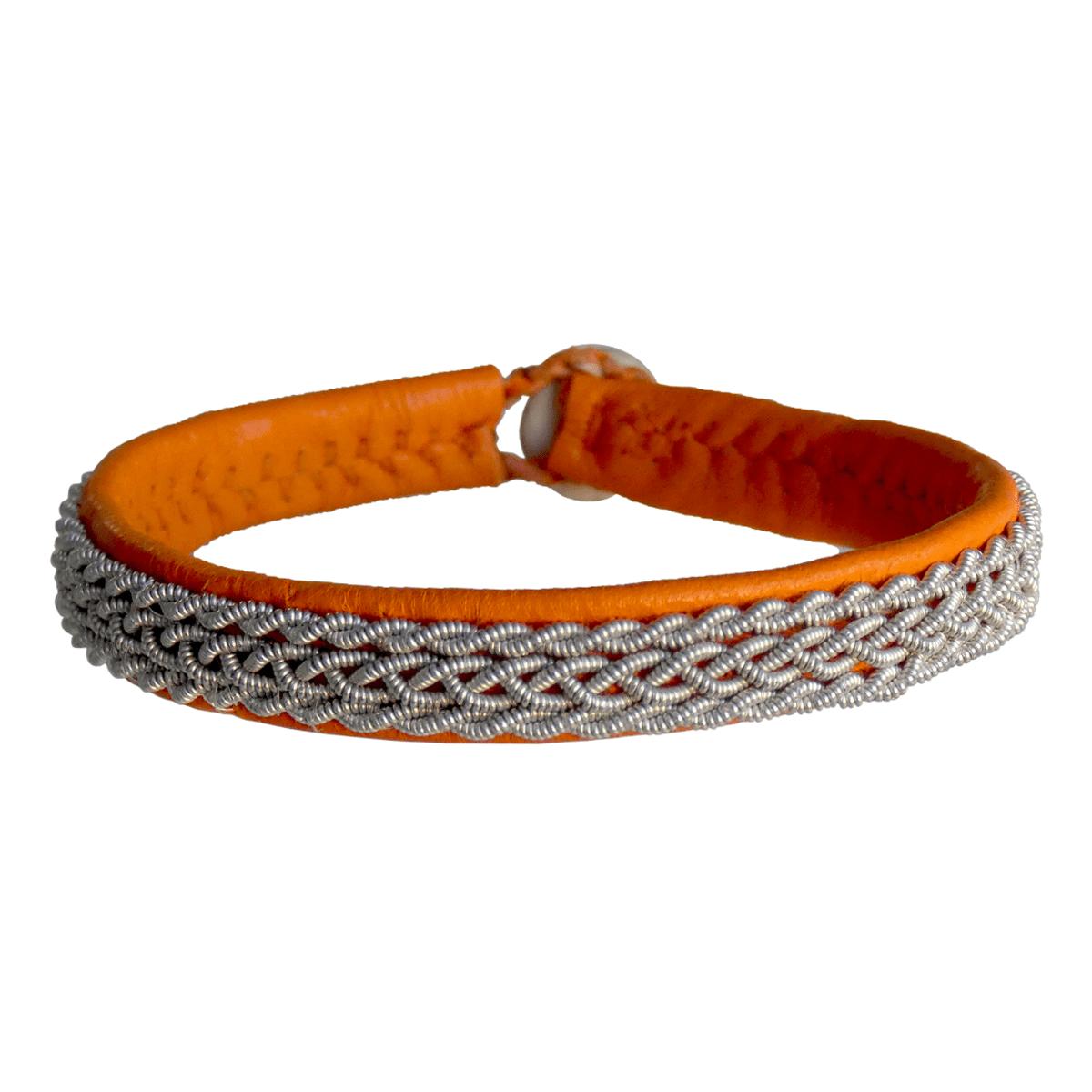 Empreinte Nomade, bracelet Lapon Mika Coloris Orange - cassisroyal.com