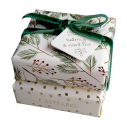 """Savons de Noël """"Noix de muscade & Thé à la menthe"""" 2 x 150g - cassisroyal.com"""