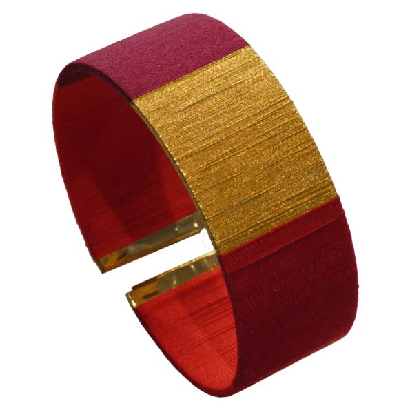 Des manchettes à porter seule ou en accumulation, des couleurs qui claquent, les bracelets Lilie & Koh font envie !, Manchette TAO nuances de rouge