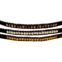 LEJU, Trio de bracelets en perles Faceted anthracite - cassisroyal.com
