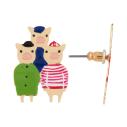 cassisroyal-boutique-laguiole-aubrac-aveyron-n2-bijouxcreatifs-il-etait-une-fois-trois-petits-cochons-boucles-d-oreilles-grand-mechant-loup