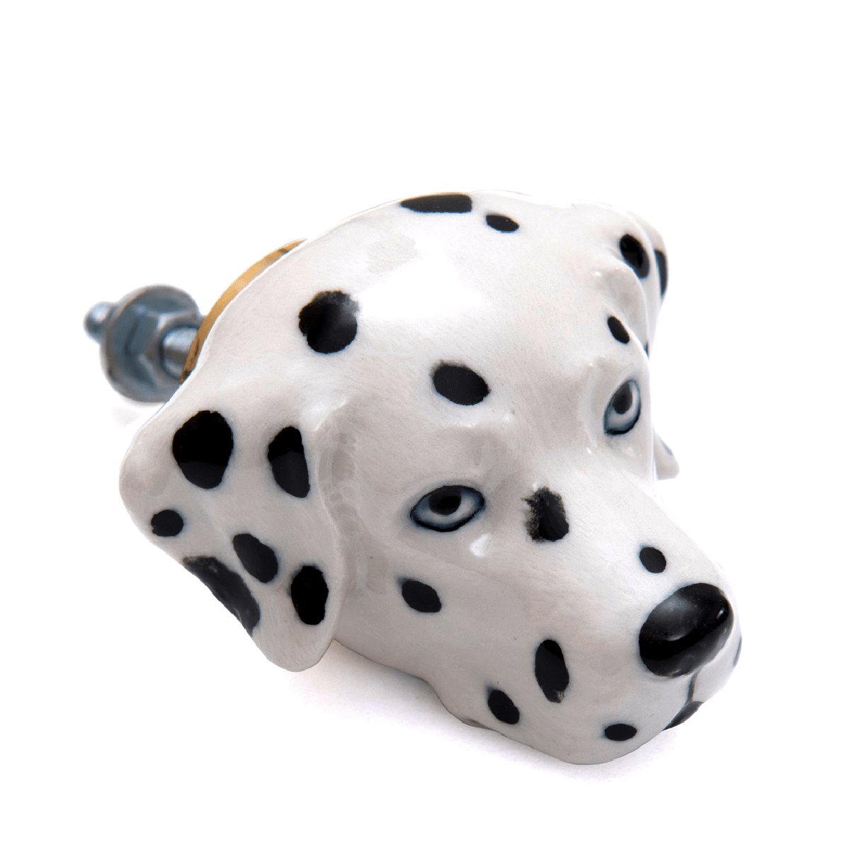 and mary poignée de placard en porcelaine dalmatien - cassisroyal.com