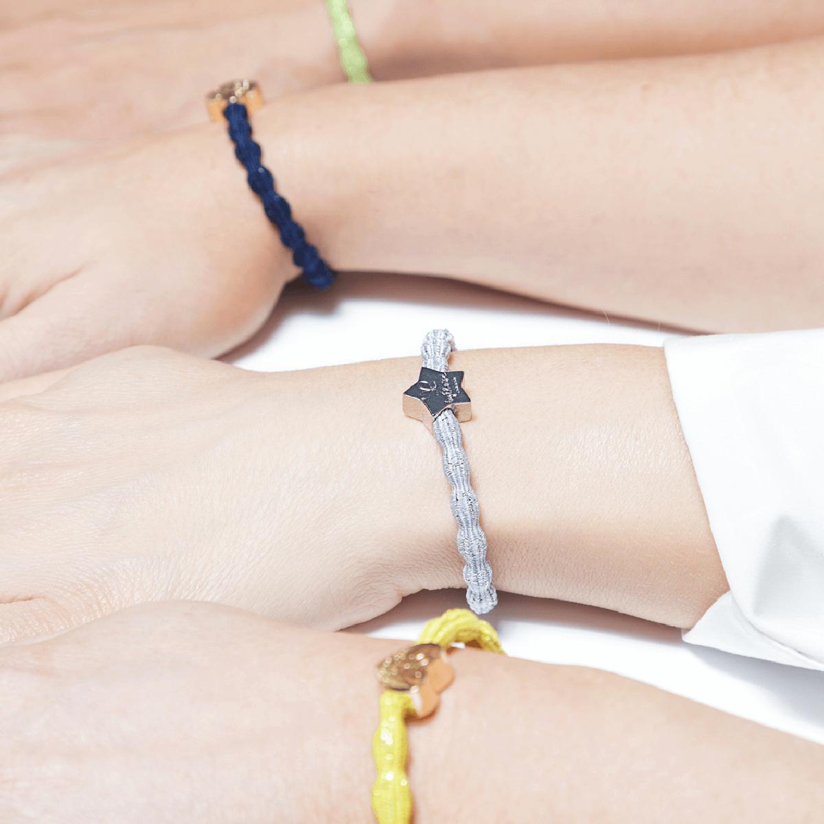 bracelet elastique cheveux byEloise star metallic argent. Previous; Next