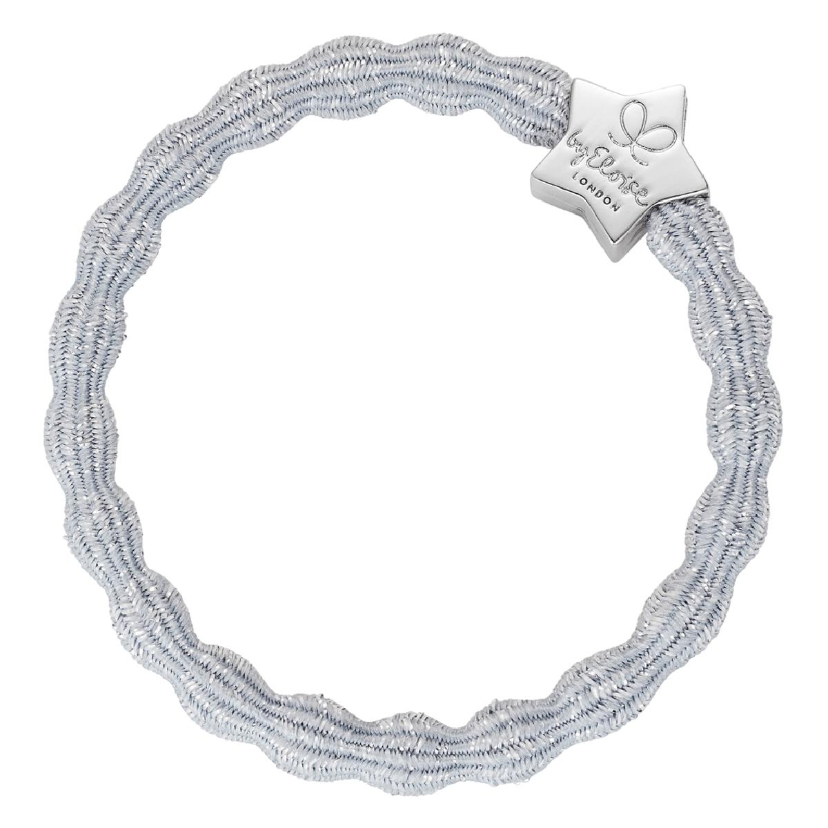 bracelet elastique cheveux byEloise star metallic argent