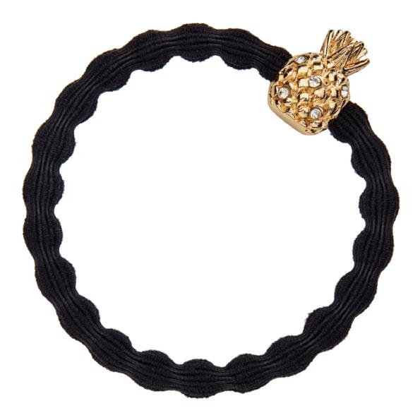 bracelet elastique cheveux byEloise ananas noir