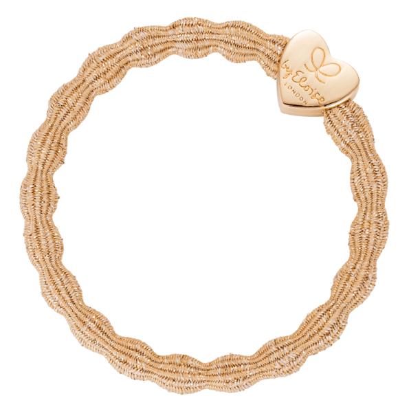 bracelet elastique cheveux byEloise coeur metallic gold